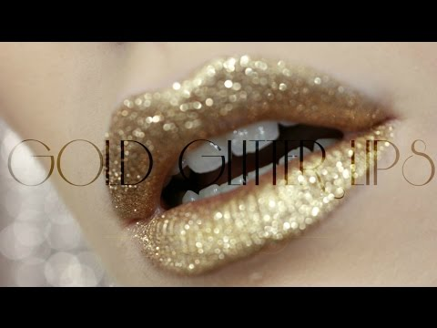 GOLD GLITTER LIPS  / Sminkanje sa Jelenom