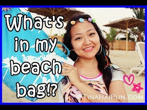 Whats in My Beach Bag!? Beauty Mother Essentials! Tina Rai Pun