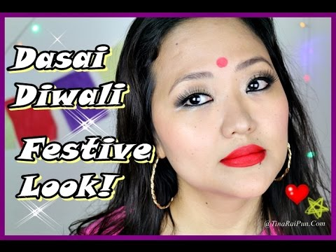 How To Do BOLLYWOOD Festive Makeup I #Diwali #Dusshera - Tina Rai Pun