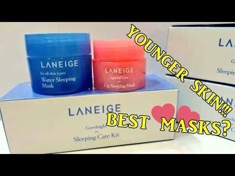 Laneige Sleeping Care Kit: Water Sleeping Mask+ Lip Sleeping Mask | Korean Skin Care