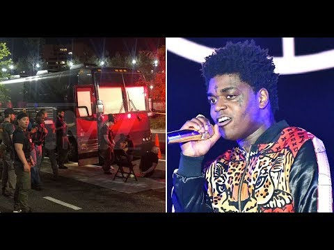 Kodak Black Tour Bus Gets Raided by the FBI in Washingon, DC. They Find 4 Guns and Arrest 5 People.