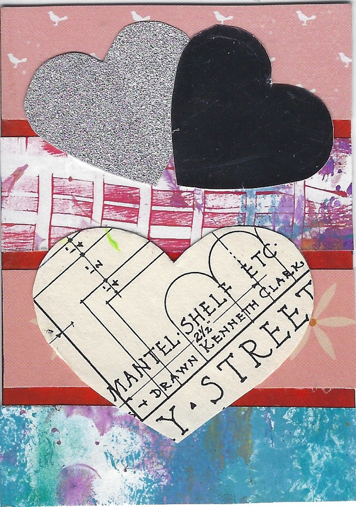 """1027 a&b """"worn out & a new woman"""" ATC's 1028 Love ATC by tonipoet 1"""