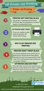 How to get rid of HP printer not printing black blunders?