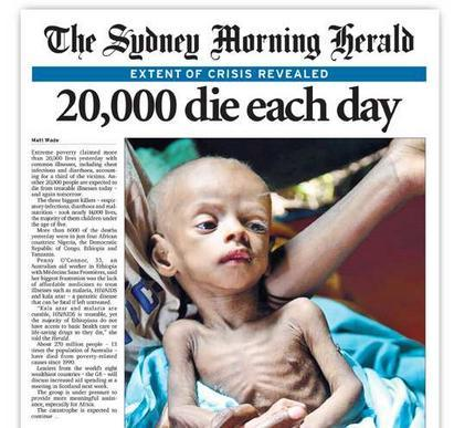 CASH4NEEDS$CAMPAIGN DESTROY POVERTY 20,000 DIE EACH DAY