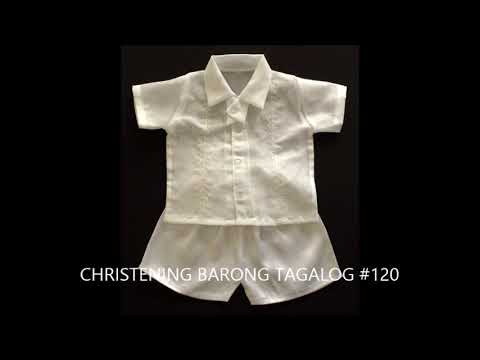 High Quality Christening barong Tagalog for Kids