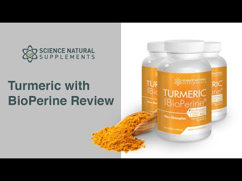 Science Natural Supplements Turmeric with BioPerine Review