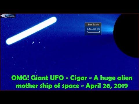 Гигантский НЛО на Солнце - April 26, 2019