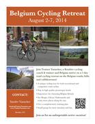Belgium Cycling Retreat Poster