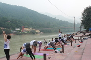 108 Surya Namskar near by Ganges