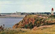 Postcard: Whalers Bluff and the Grain Terminal beyond, Portland