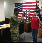 Swearing into Navy Reserve