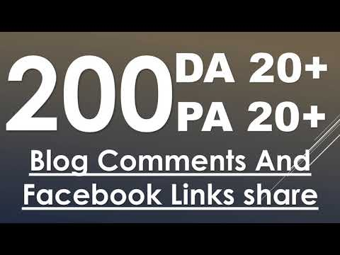 I Will Do 200 High Da Pa Blog Comment With Low Obl Links