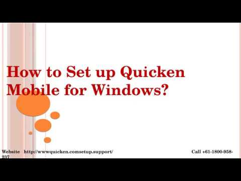 Complete Guideline to Setup Quicken Mobile for Window