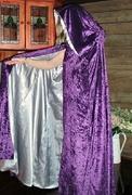 Silver and purple cloak.