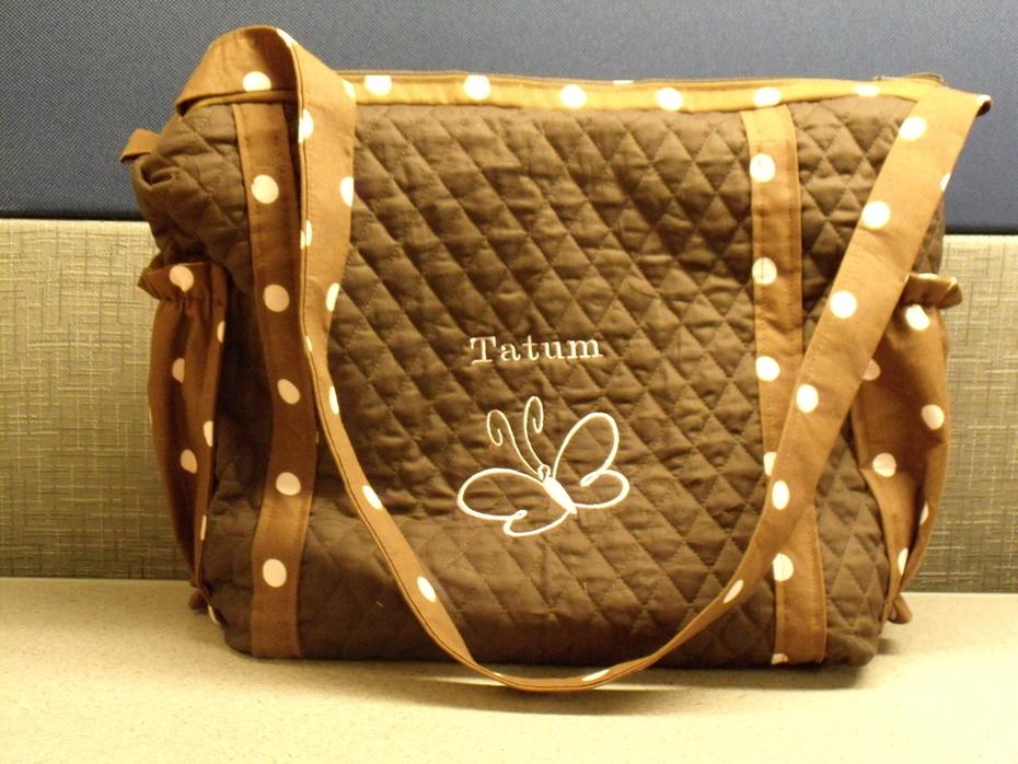 Brown Diaper Bag Front