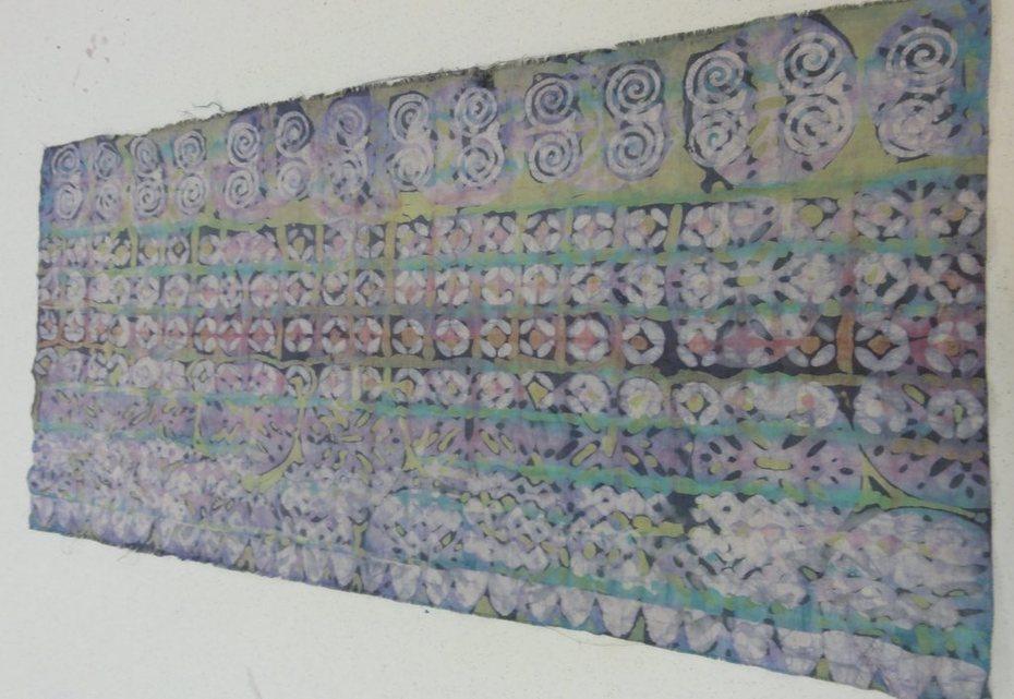 many stamps batik