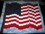 Waving Bargello American Flag Quilt
