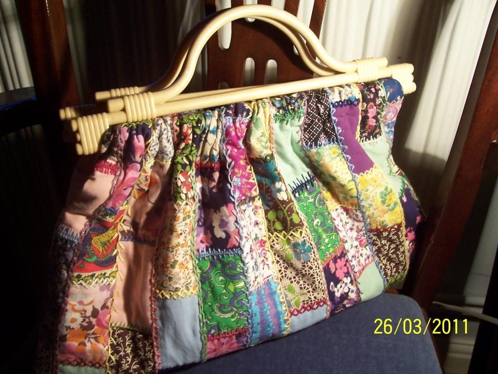 Mummy's Handsewn Patchwork Handbag