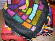 Close up of free motion quilting
