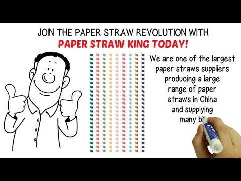 Paper straws king: Biodegradable straws