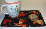 Coffee fabric snack mat