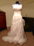 Wedding gown after altering the bodice