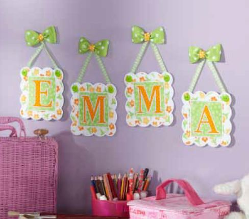 Scalloped Letter Wall Squares