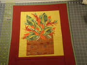 Appliqued Wall-hanging Hand Embroidery and Free-Motion Quilting