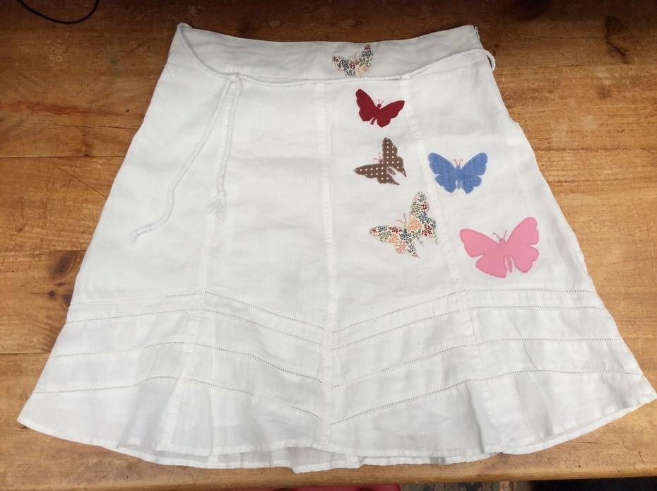 Kaleidoscope of Butterflies Appliqued Skirt