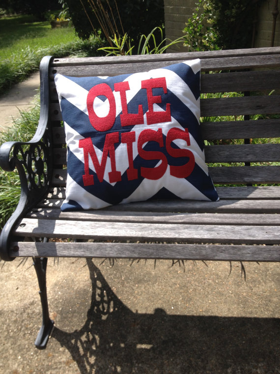 Ole Miss pillow