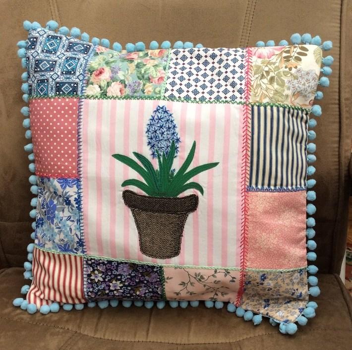 Spring Hyacinth Cushion