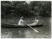Young Women Rowing on Finsbury Park Lake, 1938