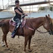 Horse care volunteer