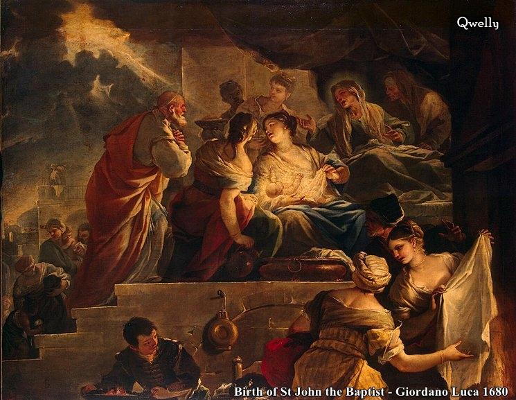 იოანე ნათლისმცემელი, შობა, დაბადება, Qwelly, ioane natlismcemeli, shoba, dabadeba