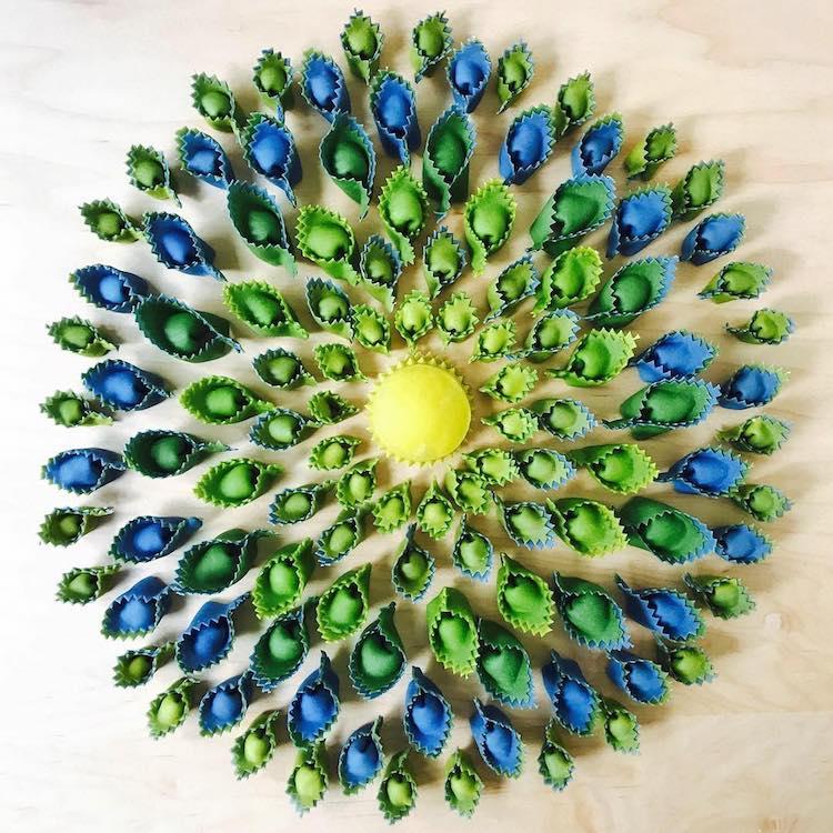 ფერადი მაკარონები, მრავალფეროვანი მაკარონი, მაკარონის ხელოვნება, მაკარონის სუპი