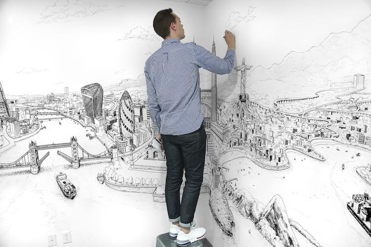 მხატვრობა, არქიტექტურა, განაშენიანება, მშენებლობა, გლობალიზაცია, qwelly, qwellygraphy, qwellyland, architecture, painting, paris, world city