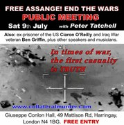 Free Assange End the Wars - public meeting with Peter Tatchell