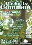 Playground launch At Ducketts Common
