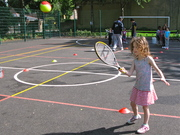 Mini-tennis coaching for 5-12 year olds, in Fairland Park