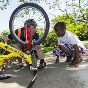 Cycle training and free bike fixing