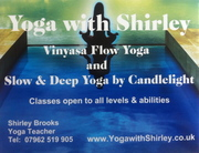 Yoga with Shirley - Tonight at 7pm