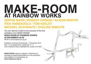 Make-Room at Rainbow Works Exhibition invitation