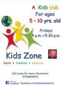 'Kids Zone' after-school club