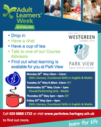 Adult learners week at Park View