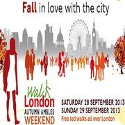 Walk London Autumn Ambles Weekend
