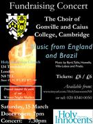 Fundraising Concert for Winter Shelter: Choir of Gonville & Caius College