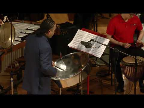 "Premiere of Robert Chappell's ""Algorhythm"" for steelpan and percussion ensemble.- with Liam Teague"