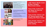 February 2015 #LGBT History Month Events  @ Wise Thoughts CCH