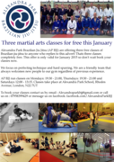 [Last of 3x] Free Martial arts classes