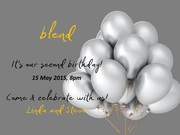 blend cafe - it's our second birthday!